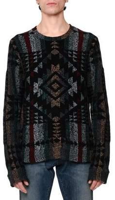 Valentino Tribal Intarsia Crewneck Sweater