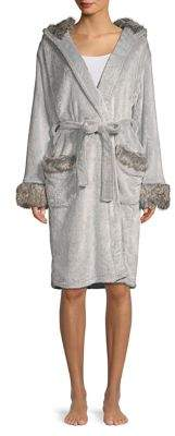PJ Salvage Plush Faux Fur Robe