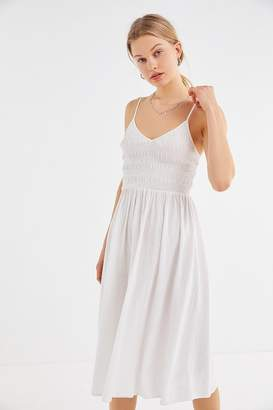 Urban Outfitters Ember Smocked Midi Dress