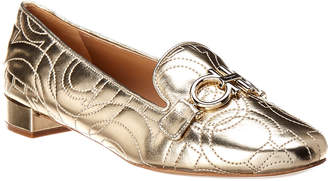 Salvatore Ferragamo Alvano Metallic Leather Loafer