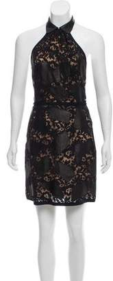 3.1 Phillip Lim Halter Lace-Accented Dress w/ Tags