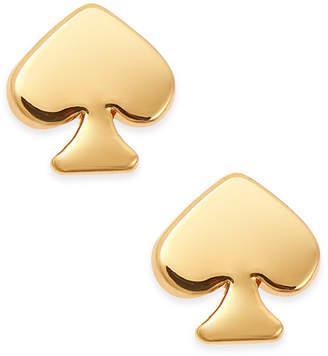 Kate Spade Mini Signature Gold Tone Stud Earrings