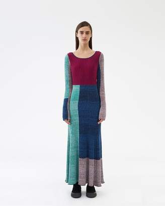 3.1 Phillip Lim Marled Mixed-Patchwork Dress