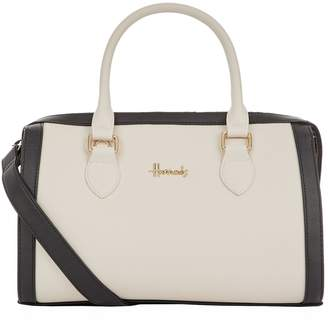 Harrods Staunton Two-Tone Barrel Bag
