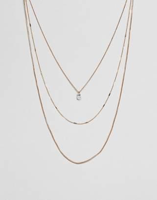 Aldo Delicate Gold Chain Multirow Necklace