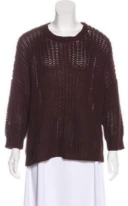 Organic by John Patrick Rib Knit Long Sleeve Sweater