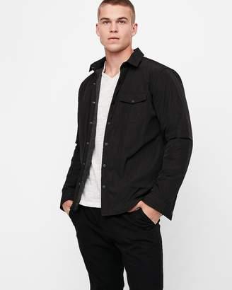 Express Slim Button-Up Overshirt