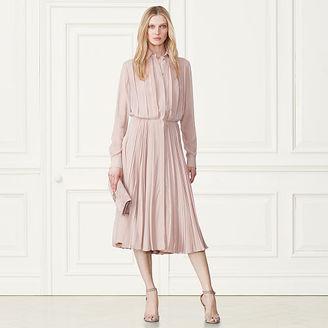 Ralph Lauren Maxine Pleated Silk Shirtdress $3,590 thestylecure.com