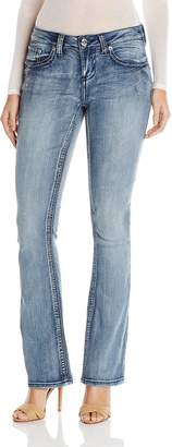 7 For All Mankind Seven7 Women's Bootcut Jean with Flap Back Pockets
