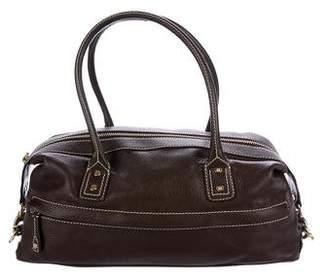 Celine Pebbled Leather Zip Handle Bag
