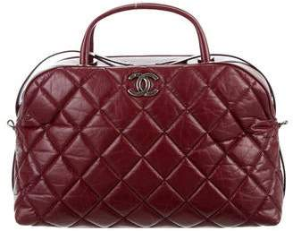 Pre Owned At Therealreal Chanel Aged Calfskin Small Bowling Bag