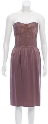 Bottega Veneta Strapless Silk Dress