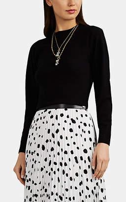 Barneys New York Women's Active Cashmere® Crewneck Crop Sweater - Black