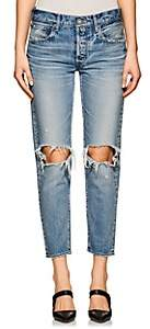 Moussy Women's Latrobe Distressed Crop Jeans - Lt. Blue