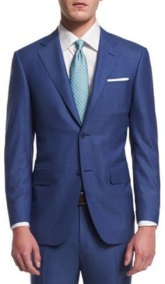 Canali Sienna Contemporary-Fit Micro Tic-Stripe Suit, Blue $1,895 thestylecure.com