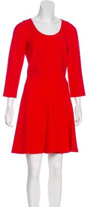 Diane von Furstenberg A-Line Scoop Neck Dress w/ Tags