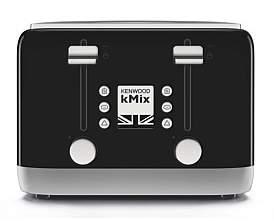 Kenwood Tfx750Bk Kmix Rich Black 4 Slice Toaster