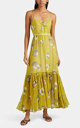 Laura Garcia Collection Women's Laura Feather-Print Silk Dress - Green