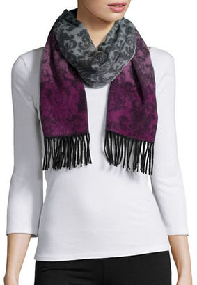 Lord & Taylor Ombre Print and Fringe Cashmere Scarf $128 thestylecure.com