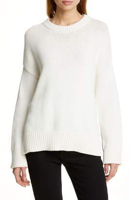 a93c004b196 Jenni Kayne Chunky Crewneck Cotton Blend Sweater