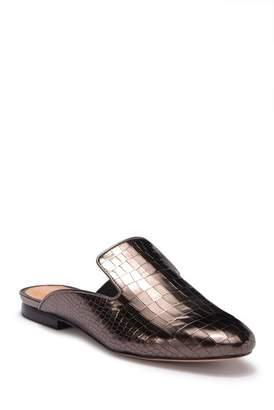 Schutz Avamel Croc Embossed Leather Loafer