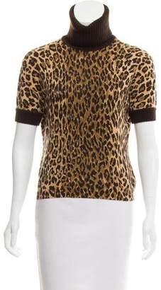 Dolce & Gabbana Cashmere Animal Print Top