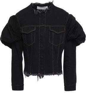 Marques Almeida Marques' Almeida Gathered Frayed Denim Jacket