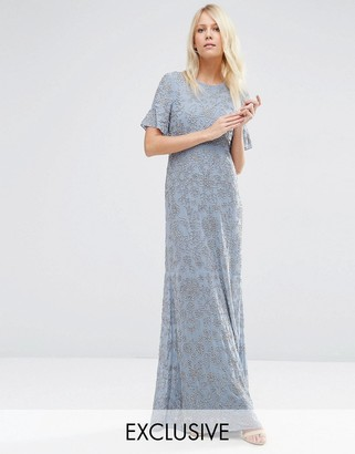 Needle & Thread Linear Flower Maxi Dress $339 thestylecure.com