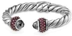 David Yurman Cable Berries Pink Sapphire& Stainless Steel Bracelet