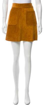 Frame Suede Mini Skirt w/ Tags