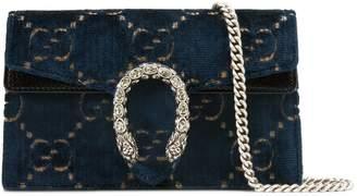 Gucci Dionysus GG velvet super mini bag