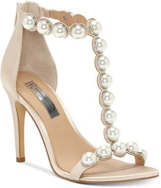 INC International Concepts I.n.c. Women's Raechelle T-Strap Dress Sandals, Created for Macy's Women's Shoes