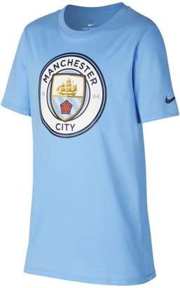 Nike Manchester City FC Crest Older Kids'(Boys') T-Shirt