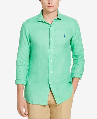 Polo Ralph Lauren Men's Linen Sport Shirt $98.50 thestylecure.com