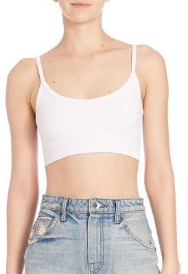 Helmut Lang Ribbed Seamless Bra Top $90 thestylecure.com