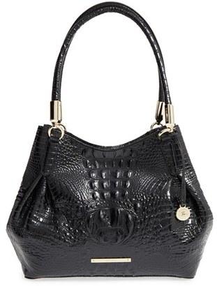 Brahmin 'Judith' Croc Embossed Leather Hobo - Black $355 thestylecure.com