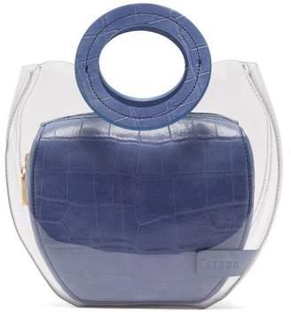 STAUD Frida Leather & Pvc Tote Bag - Womens - Blue