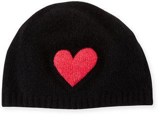Portolano Cashmere Heart Beanie Hat $71 thestylecure.com