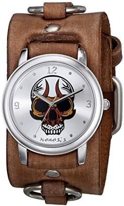 Nemesis Men's 924BFRB-S Angry Skull Series Analog Display Japanese Quartz Brown Watch