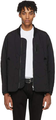 Burberry Black Marshall Bomber Jacket