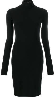 Norma Kamali long-sleeve fitted dress