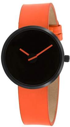 "Projects Watches Black Stainless Steel & Leather Watch ""Sometimes"""