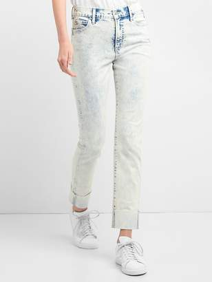 Gap Washwell High Rise Slim Straight Jeans in Acid Wash