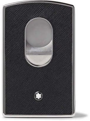 Montblanc Sartorial Cross-grain Leather And Silver-tone Card Case