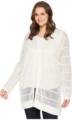 Calvin Klein Plus Plus Size Long Sleeve Lurex Cardigan Women's Sweater