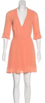 Reformation Mini Wrap Dress