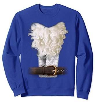 Ladies Men Funny Santa Claus Costume Sweatshirt