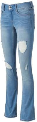 Mudd Juniors' FLX Stretch Ripped Bootcut Jeans