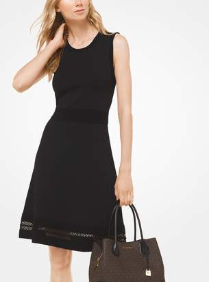 MICHAEL Michael Kors Textured Stretch-Viscose Dress