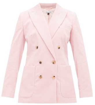 Bella Freud Bianca Double Breasted Corduroy Blazer - Womens - Pink